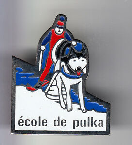 RARE-PINS-PIN-039-S-SPORT-CHIEN-DOG-HUSKY-TRAINEAU-PULKA-ECOLE-FRANCE-B2