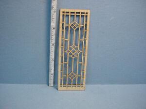 Dollhouse Miniature Decorative Glazed Door Mullion # N-D Laser Creations 1//12th