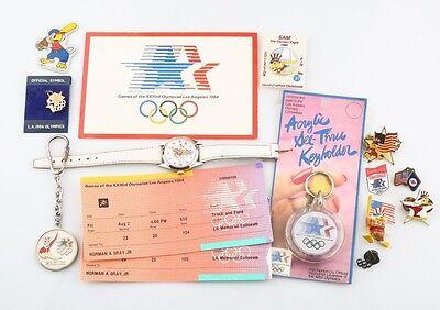 Lot of 1984 Los Angeles Olympics Memorabilia Sam The Eagle Olympic Pins