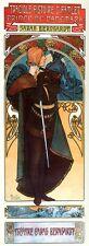 "Hamlet Theatre Sarah Bernhardt Art Nouveau Print by Alphonse Mucha 16x6"" Poster"