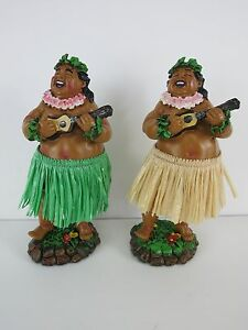 Hula-Dashboard-Doll-Man-Tiki-50s-Rockabilly-Hawaii-Grass-Skirt-Bruddah-Wobbler