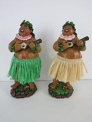 Hula Dashboard Doll Man Tiki 50s Rockabilly Hawaii Grass Skirt Bruddah Wobbler