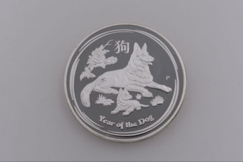 2018 1 Oz Lunar Commemorative Zodiac Coin Year Silver Plated Dog Chinese Coins