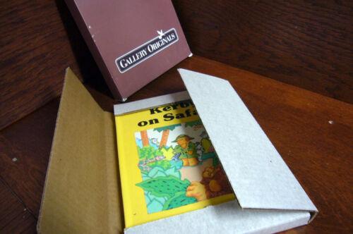 1984 KERBY on Safari Gallery Originals Avon KOALA Bear Wallner NEW POP UP Book