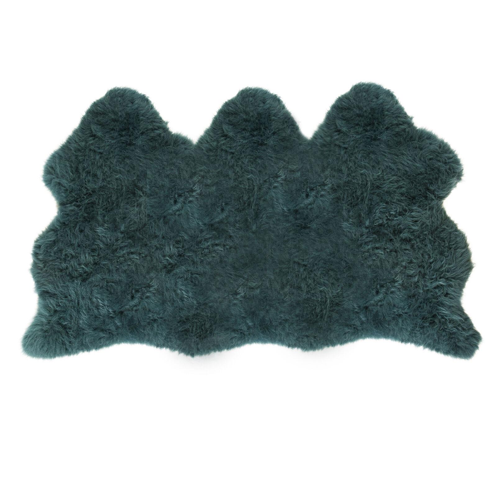 Super Size Extra Large Fabriqué Au Royaume-Uni, Véritable Tapis Bleu En Peau De Mouton Véritable Teal Peau