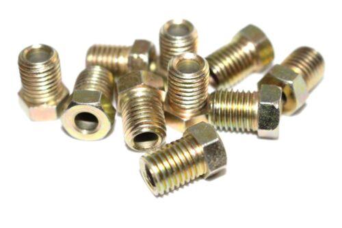 "Brake Pipe Nuts Qty 25 Pk Male M10 10mm x 1.25mm Short Nut 3//16/"" Copper BPN26"