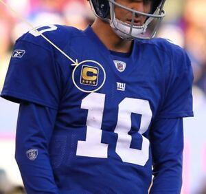 more photos d9b6c d22b5 Details about NFL 2017 SEASON NEW YORK GIANT Eli Manning JERSEY 4⭐CAPTAIN  IRON-ON GOLD C-PATCH
