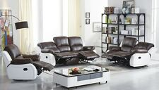 Voll-Leder Sofa  Fernsehsessel Relaxsessel Fernsehsofa 5129-3+2+1-377-W