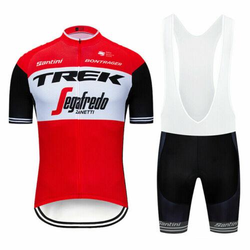 2021 Team Cycling Kit Bike Clothing Short Sleeve Jersey Padded Gel Bib Shorts