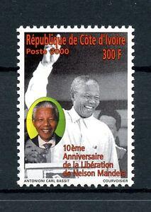 Ivory Coast 2000 MNH Nelson Mandela 10th Anniv Release 1v Set Stamps