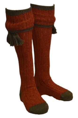 Walker /& Hawkes Mens Derby Tweed Shooting Kyle Socks /& Matching Garter Ties S-XL