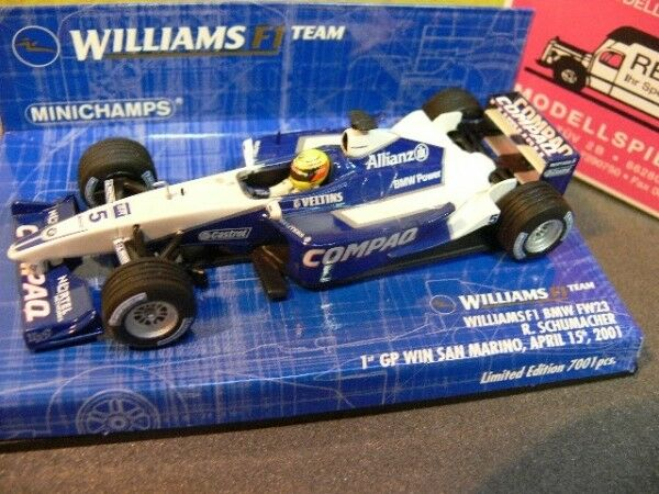 1 43 Minichamps williams f1 BMW fw23 R. Schumacher 1. GP-Victoire 2001 400010025