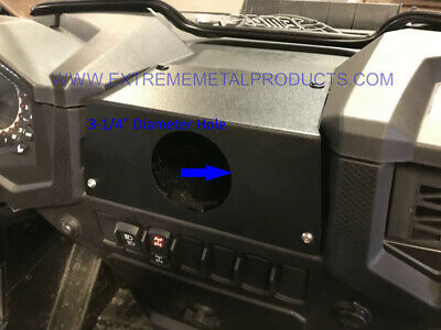 Polaris RZR In-Dash Stereo Panel Blank Panel with round hole