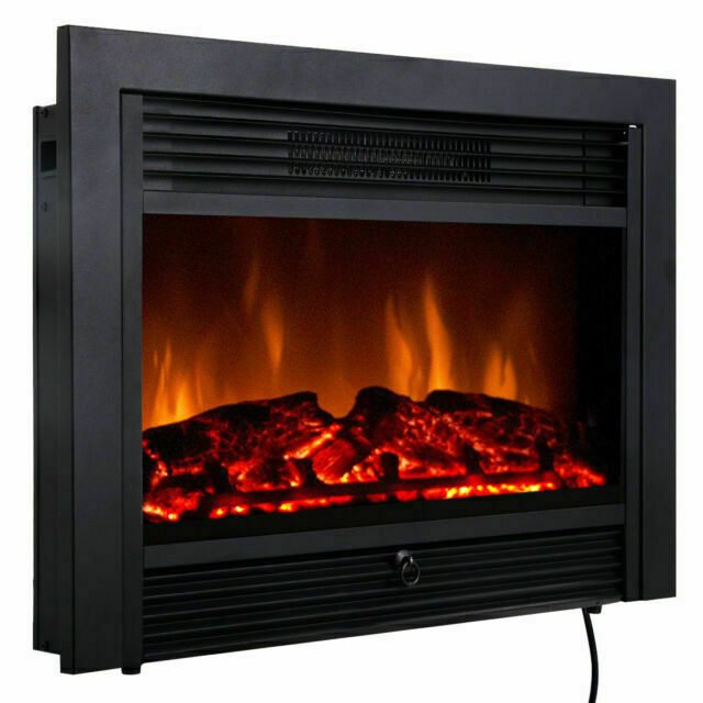 Costway Ep24718us 28 5 Inch Fireplace, Fake Fireplace Heater Insert