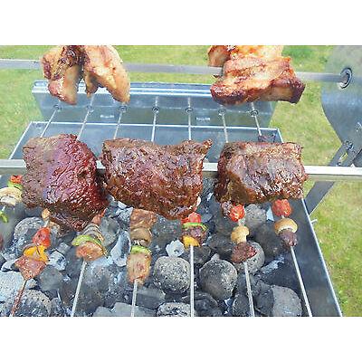Grill Top Cypriot Greek BBQ Stainless Steel Kebab & Rotisserie Spit
