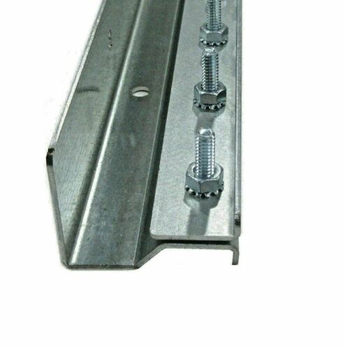 Strip Curtain Hardware Universal Mount Steel 8 Foot Two 4 Foot Sections