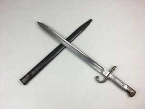 Vtg-WWI-Modelo-Argentino-1891-BAYONET-Sword-Mauser-w-Matching-Scabbard-G9374