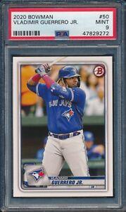 2020 Bowman Baseball Vladimir Guerrero Jr #50 PSA 9 BLUE JAYS MINT