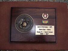U.S. Marine Corps Vietnam Combat Service Plaque  Personal Engraving & Awards