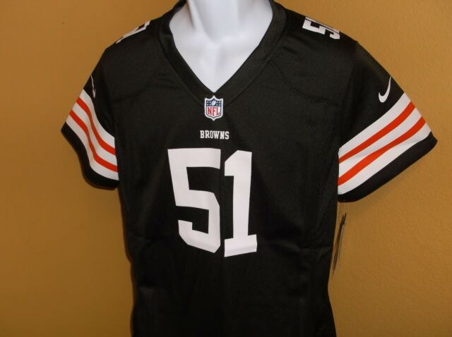 best service f30c0 5de31 Cleveland Browns Barkevious Mingo Nike Brown Game Jersey Woman's LG