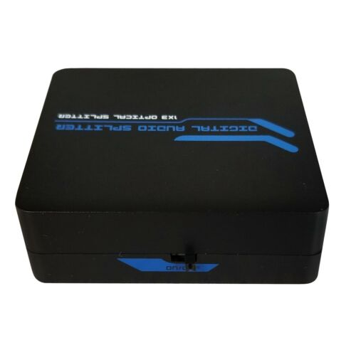 3-Port 1x3 SPDIF Toslink Optical Digital Audio Splitter Adapter 1-in 3-out New