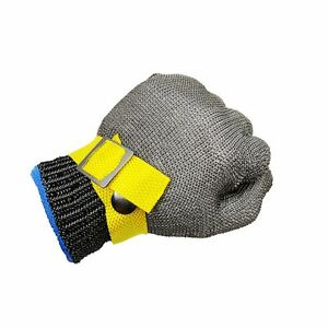 Safety-Cut-Proof-Stab-Resistant-Stainless-Steel-Metal-Mesh-Butcher-Glove-Size-M