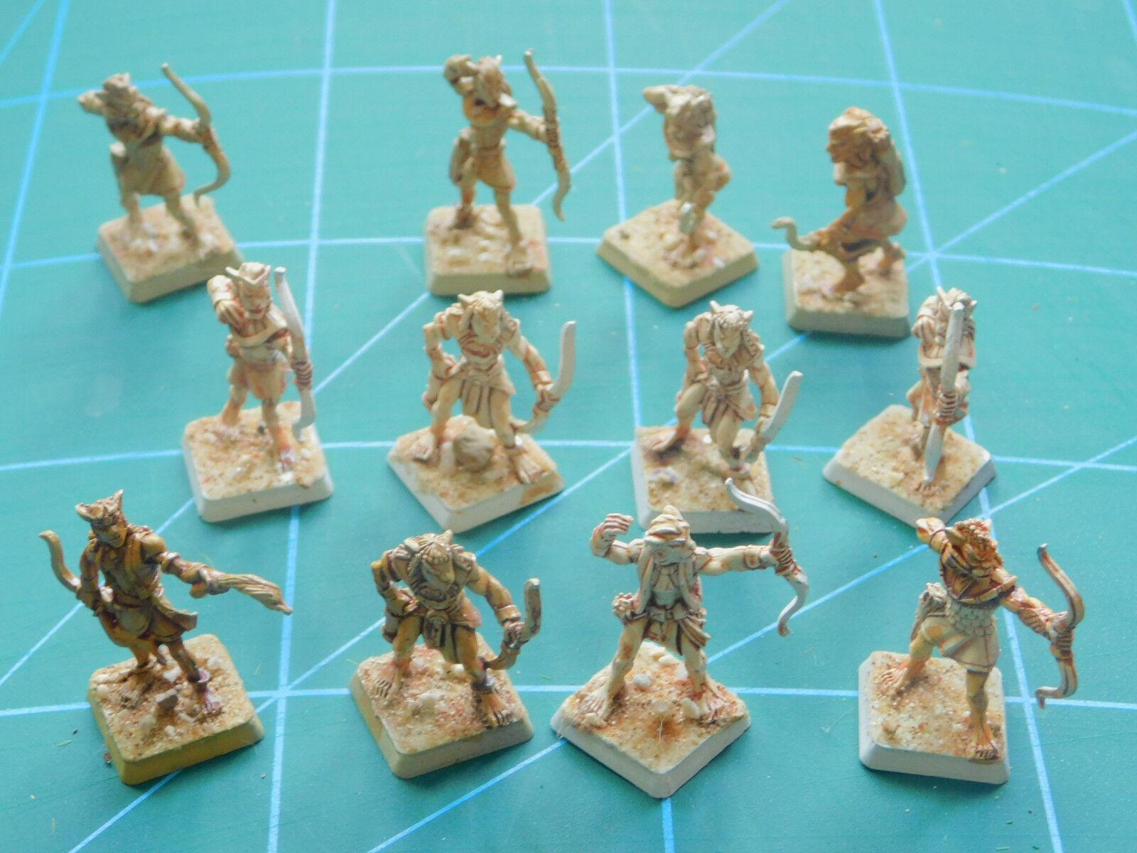 12 Warhammer 40k Dungeon Dragones CRIATURA BESTIA warriror pintado figuras de metal