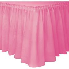 item 6 TABLESKIRT~TABLECOVER~20 COLOURS~PLASTIC PARTY TABLE SKIRTS COVERS CLOTH -TABLESKIRT~TABLECOVER~20 COLOURS~PLASTIC PARTY TABLE SKIRTS COVERS CLOTH  sc 1 st  eBay & Unique Party Plastic Hot Pink Table Skirt 14ft for sale online | eBay