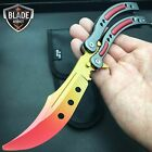 CSGO FADE SLAUGHTER Practice Knife Balisong Butterfly Tactical Combat Trainer II