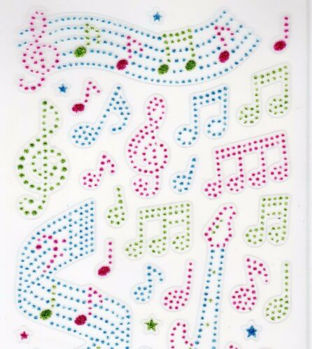 MELODY CLEAR TRANSPARENT FOIL GLITTER STICKERS for CARD MAKING SCRAPBOOKING NEW