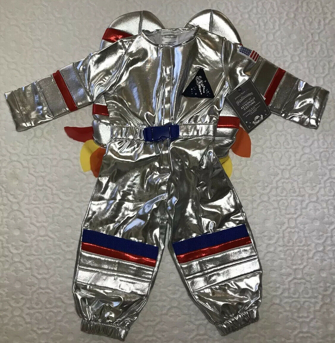 Pottery Barn Kids NEW Rocket Costume Blinking Multicolor Light up (Ages 2T)