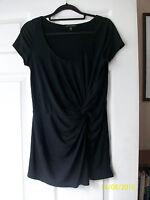 Laura Ashley twist front black tshirt top. UK size 8