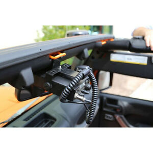 Rugged-Ridge-CB-Ham-Radio-Mount-Jeep-Wrangler-JK-07-16-Windshield-Dash-Mounting