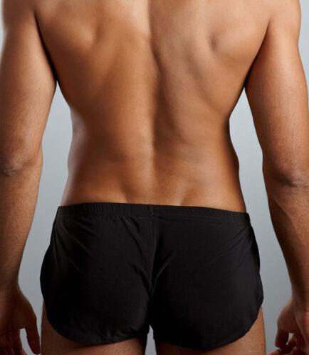 High Quality Mens Soft Dream Split Short Home Shorts N2N101 White Black GrePRUK