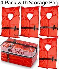 Item 2 Life Jacket Vest Preserver 4 Pack Type II Orange Adult Fishing  Boating USCG PFD  Life Jacket Vest Preserver 4 Pack Type II Orange Adult  Fishing ...