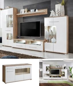 Living Room Furniture Set Tv Unit Stand Cabinet Wall Cupboard Gloss