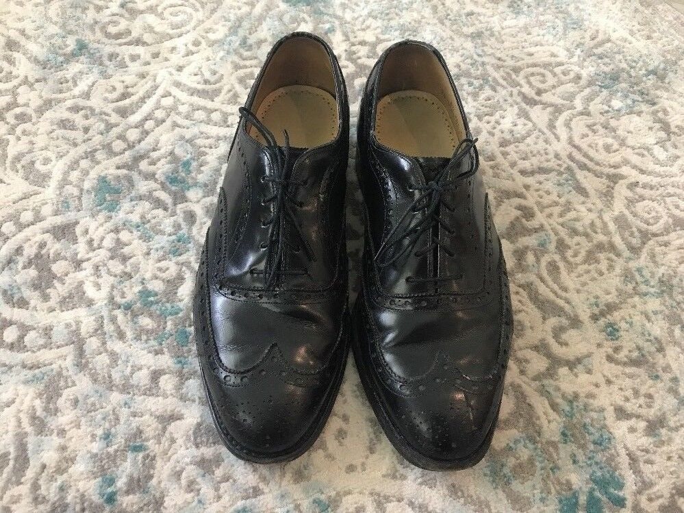 Johnston & Murphy ARISTOCRAFT Mens Size 8.5 EEE Wide Black Leather Wingtip shoes