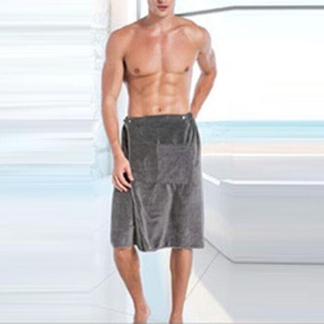 Mens Quick Dry Absorbent Bath Skirt Beach Towels Bathrobe Shower Spa Body  Wrap for sale online