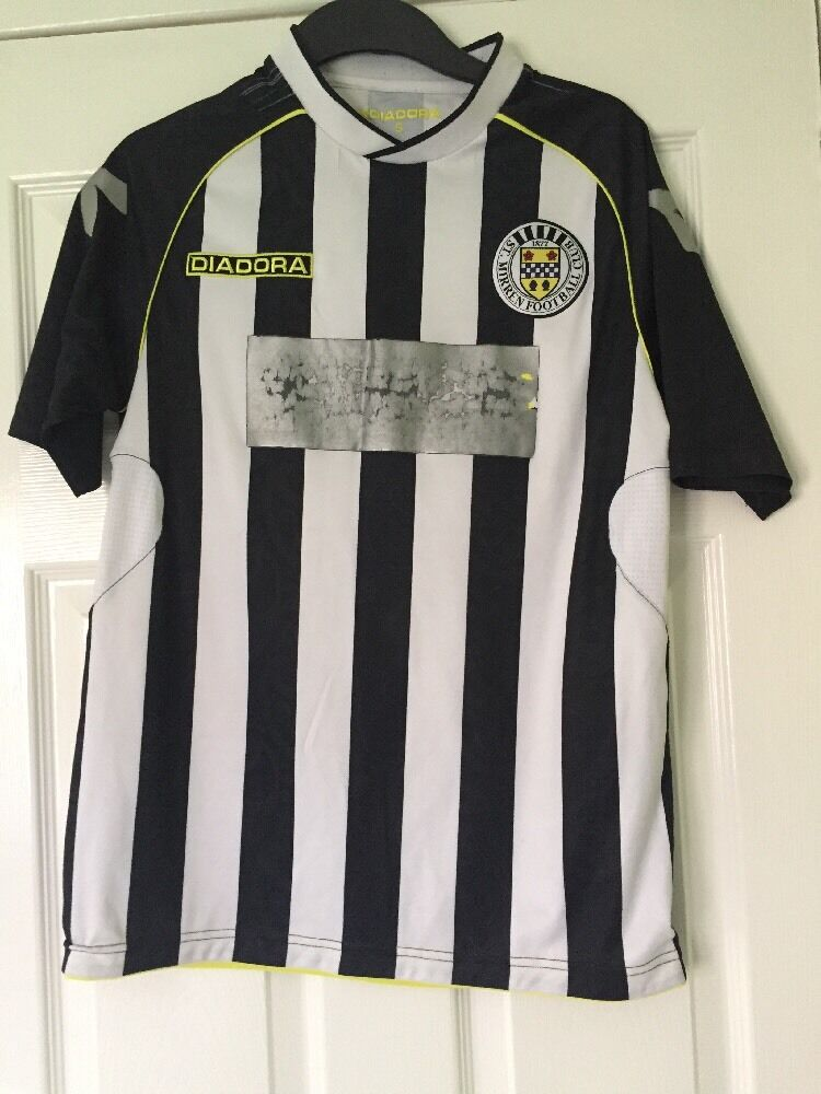 St Mirren Diadora Home Top Football Club Fotboll Fotboll Fotboll Paisley Mönster Small S Tshirt