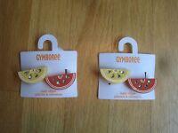 Twin Girls Gymboree Bling Lemon Orange Slices Clip Barrettes 2t 3t 4t 5t 5 6