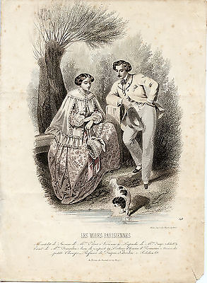 ENGLISH TOY TERRIER  ANTIQUE STYLE NAMED DOG PRINT MOUNTED READY TO FRAME