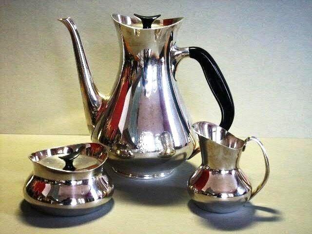 MID CENTURY DANISH MODERN KAFFEE KERN COFFEE SET COHR