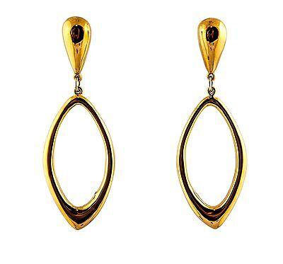 Simon Sebbag Sterling Silver Gold Pl Huggie hoop pink tiger eye earrings EC78G