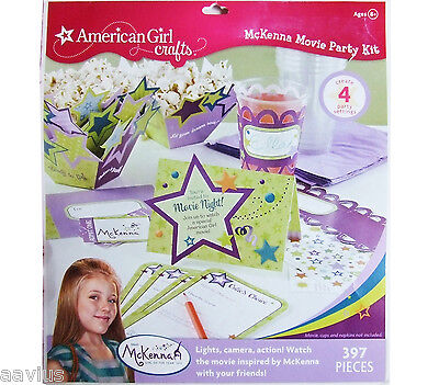 American Girl Craft Kit ~ McKenna Movie Party Kit ~ Throw a movie party ~ NEW