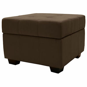 Amazing Details About Storage Bench And Ottoman 24 Square Microfiber Suede Leather Choose Color Creativecarmelina Interior Chair Design Creativecarmelinacom