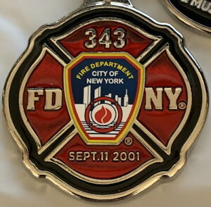 9-11-MEMORIAL-KEYCHAIN-Maltese-Cross-Engine-343-SEPTEMBER-11-2001-911-FDNY-Logo