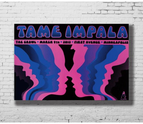 Details about  /C0209 Tame Impala Psychedelic Rock Band Art Silk Poster 20x30 24x36inch