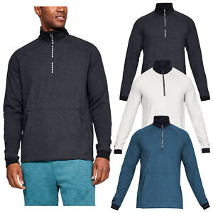ffa03a293c Details about Under Armour Mens Unstoppable Double Knit Half Zip Top -UA  Golf Sweater Pullover