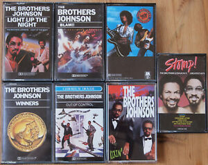 7x-THE-BROTHERS-JOHNSON-CASSETTE-TAPES-LOT-EXCELLENT-COND-FUNK-SOUL-DISCO