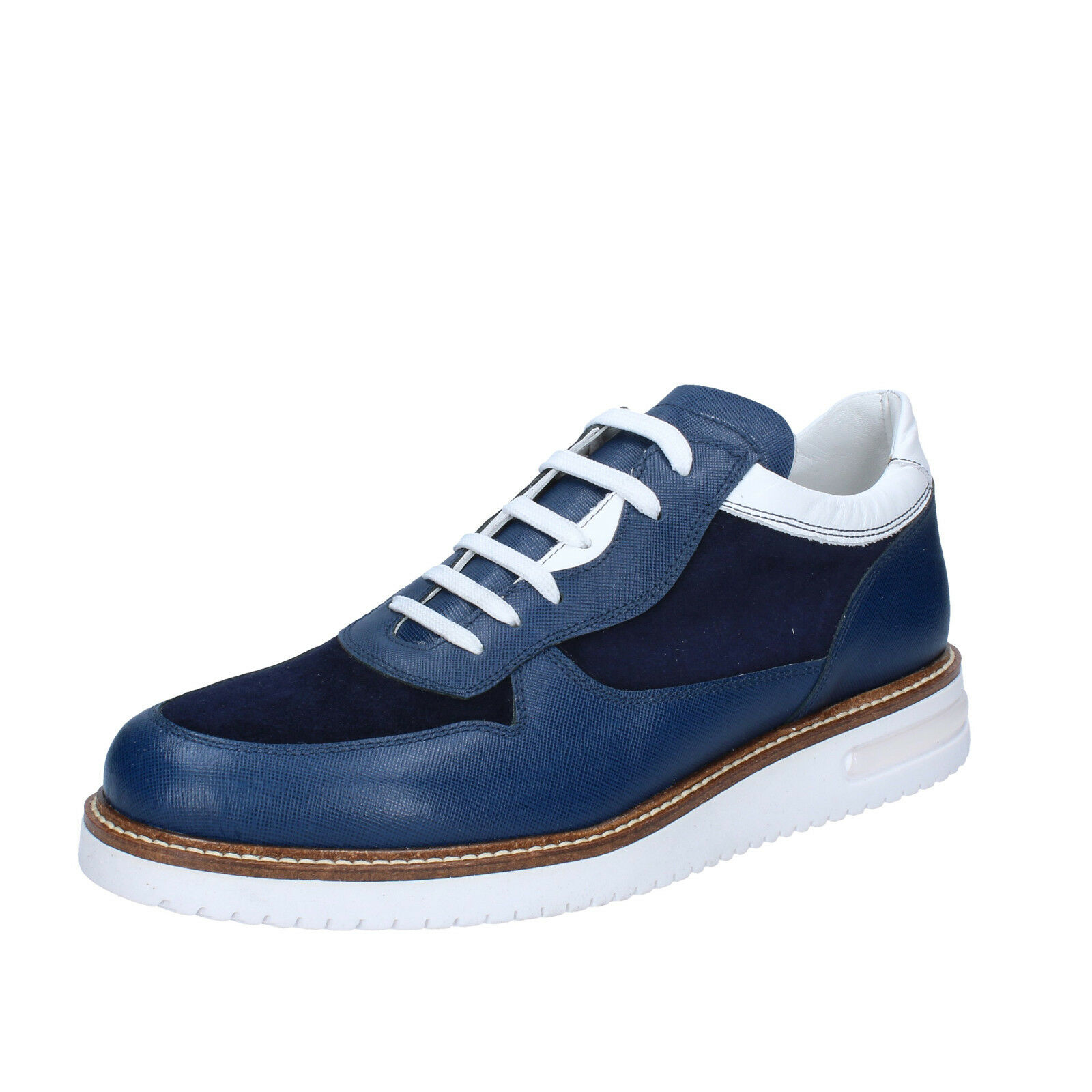 Men's shoes FDF SHOES 8 () elegant bluee leather suede BZ387-B